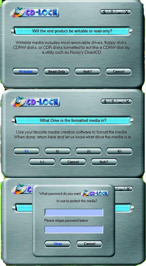 Apni CD aur Removeable Devices ko Password lagaye. Attachment