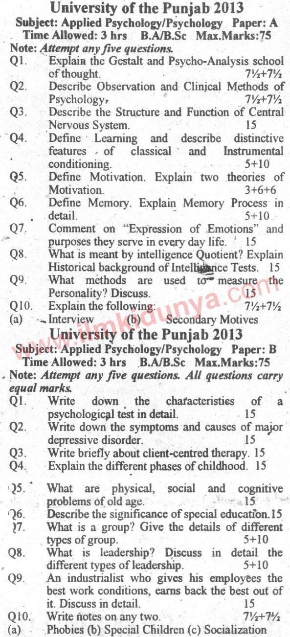 Name:  Past-Paper-Punjab-University-2013-BA-Psychology-English-Version.jpg Views: 138 Size:  172.6 KB
